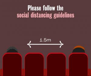 Please follow the social distancing guidelines